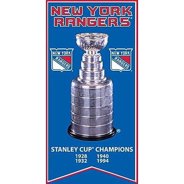 New York Rangers Stanley Cup Banner Canvas, with Cup Photo