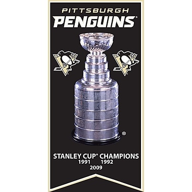 Pittsburgh Penguins Stanley Cup Banner Canvas, with Cup Photo