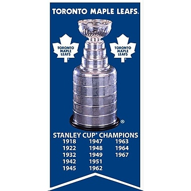 Toronto Maple Leafs Stanley Cup Banner Canvas, with Cup Photo