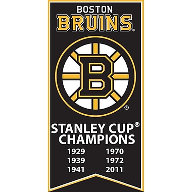 Boston Bruins Stanley Cup Banner Canvas, with Team Logo