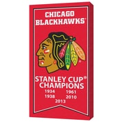 Chicago Blackhawks Stanley Cup Banner Canvas, with Team Logo