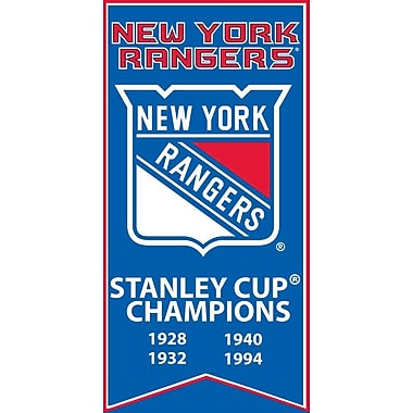 New York Rangers Stanley Cup Banner Canvas, with Team Logo