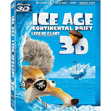 Ice Age: Continental Drift 3D (3D Blu-Ray + Blu-Ray + DVD + Digital Copy)
