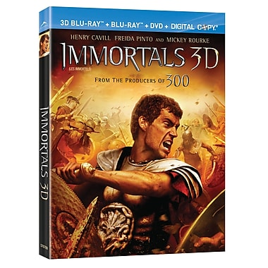 Immortals 3D (3D Blu-Ray + Blu-Ray + DVD + Digital Copy)