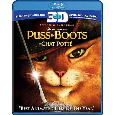 Puss In Boots 3D (3D Blu-Ray + Blu-Ray + DVD + Digital Copy)