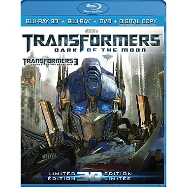 Transformers: Dark of the Moon 3D (3D Blu-Ray + Blu-Ray + DVD + copie numérique)