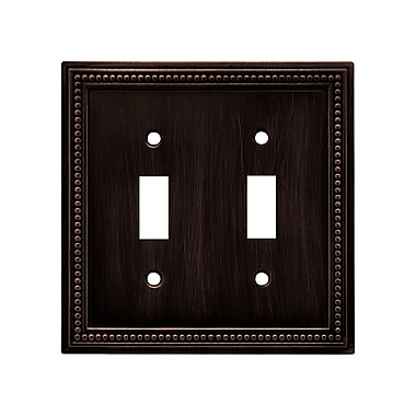 Brainerd® Beaded Double Switch Wall Plate, Venetian Bronze, 2/Pack