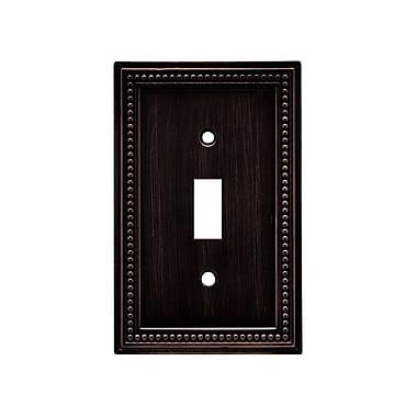 Brainerd® Beaded Single Switch Wall Plate, Venetian Bronze, 2/Pack