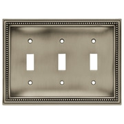 Brainerd® 2/Pack Beaded Triple Switch Wall Plates