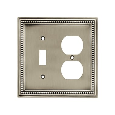 Brainerd® 2/Pack Beaded Single Switch/Duplex Wall Plates