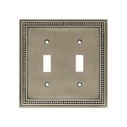 Brainerd® 2/Pack Beaded Double Switch Wall Plates