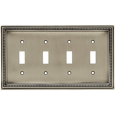 Brainerd® Beaded Quad Switch Wall Plates