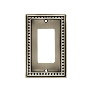 Brainerd® Beaded Single Decorator Wall Plate, Brushed Satin Pewter, 3/Pack