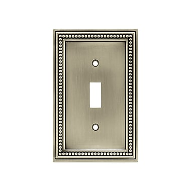 Brainerd® Beaded Single Switch Wall Plate, Brushed Satin Pewter, 3/Pack