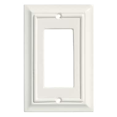Brainerd® Architectural Single Decorator Wall Plate, White, 3/Pack