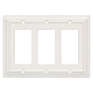 Brainerd® Architectural Triple Decorator Wall Plate, White
