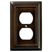 Brainerd® Architectural Single Duplex Wall Plate, Espresso, 2/Pack