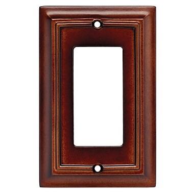 Brainerd® Architectural Single Decorator Wall Plate, Espresso, 2/Pack