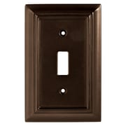 Brainerd® 2 Gang Architectural Single Switch Wall Plate, Espresso, 2/Pack