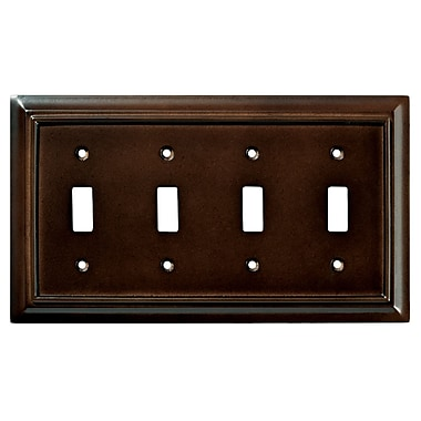 Brainerd® Architectural Quad Switch Wall Plate, Espresso