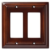 Brainerd® 2/Pack Wood Architectural Double Decorator Wall Plates