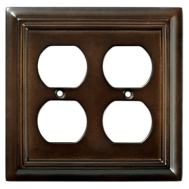 Brainerd® 2/Pack Architectural Double Duplex Wall Plates