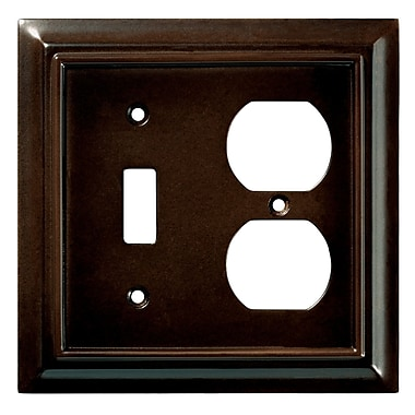 Brainerd® 1 Gang Architectural Single Switch Wall Plate, Espresso, 2/Pack