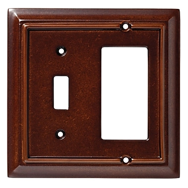 Brainerd® 2/Pack Architectural Single Switch GFCI/Rocker Wall Plates
