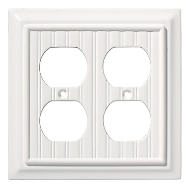 Brainerd® Double Duplex Wall Plate, White, 2/Pack