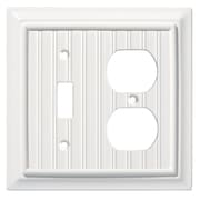 Brainerd® Beadboard Single Switch/Duplex Wall Plate, White, 2/Pack