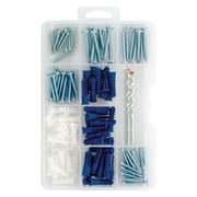 Project Basics Anchor/Screw/Drill Bit Assortment Kit, 138 Piece
