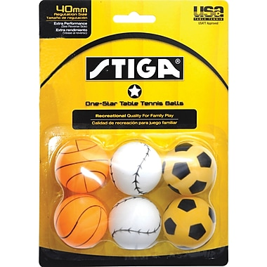 One Star Table Tennis Balls, Sport, 6/Pack