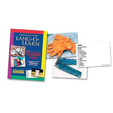 Lang-O-Learn Flash Cards, Clothing