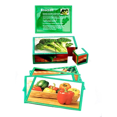 Real Life Learning Cube Puzzle, Vegetable