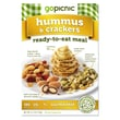 GoPicnic® Ready-To-Eat Meals Hummus+Crackers, All-Natural, 4.1 oz.