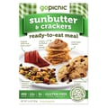 GoPicnic® Ready-To-Eat Meals Sunbutter+Crackers, All-Natural, 3.6 oz.