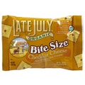 Late July Organic Crackers, Cheddar Cheese Bite Size, 1 oz., 24/Pack