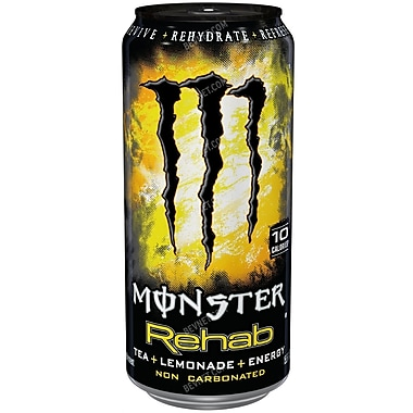 Monster Rehab Energy Drinks, 16 oz. Cans, 24/Pack