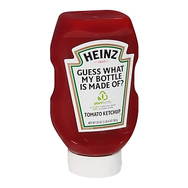 Heinz Ketchup In EZ Squeeze Bottle, 20 oz., 10/Pack