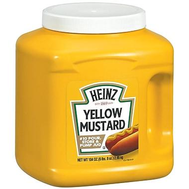 Heinz #10 Yellow Mustard Jug, 104 oz., 6/Pack