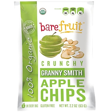 barefruit® Organic Granny Smith Apple Chips, 2.2 oz. Bag