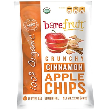 barefruit Organic Cinnamon Apple Chips, 2.2 oz. Bag, 10/Pack