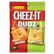 Sunshine Cheez-It Duoz Snack Crackers, Sharp Cheddar and Parmesan, 4.3 oz., 14/Pack