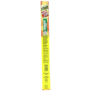 Slim Jim Monster Tabasco Meat Sticks, 1.94 oz. 18/Pack