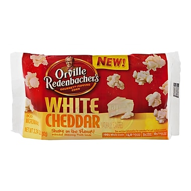 Orville Redenbacher s Microwavable White Cheddar Popcorn, 3.24 oz., 18/Pack