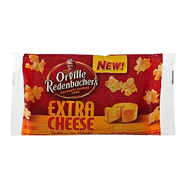 Orville Redenbacher s Microwavable Extra Cheese Popcorn, 3.24 oz., 18/Pack