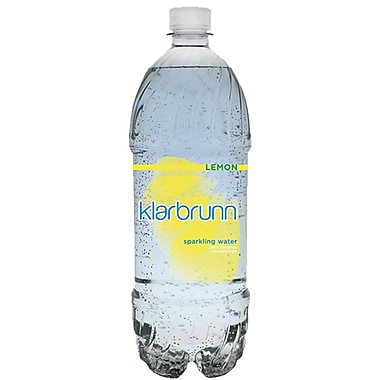 Klarbrunn Lemon Flavor Sparkling Water, 20 oz. Bottle, 24/Pack