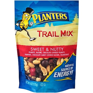 Planters Sweet & Nutty Trail Mix, 6 oz., 10/Pack
