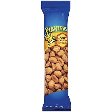 Planters Honey Roasted Cocktail Peanuts, 2.5 oz., 30/Pack