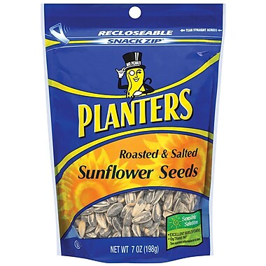 Planters Sunflower Seeds, 7 oz. Gusseted Peg Bag, 18/Pack